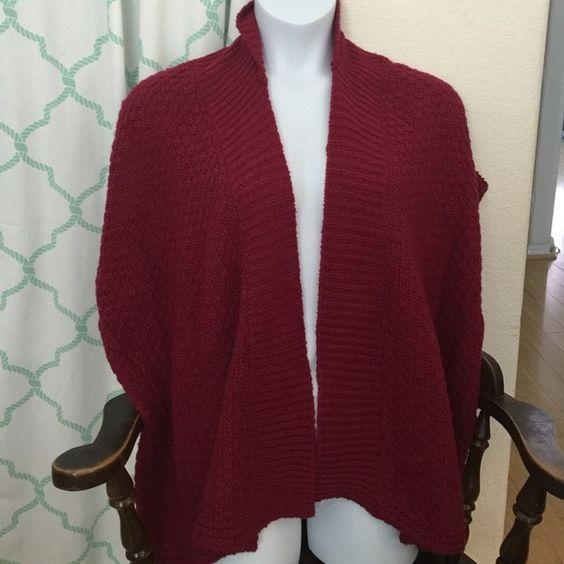 Loft vest sweater large Loft vest sweater large maroon color LOFT Sweaters Shrugs & Ponchos