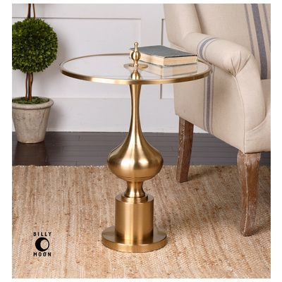 Uttermost Bertina Bronze Accent Table