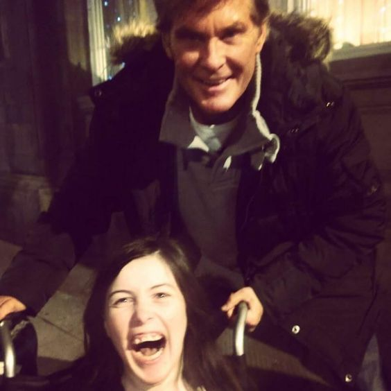The Hoff With My Sister Legitimately The Nicest Celebrity Ever We Bumped Into Him In Glasgow And He Made Such A Fuss Over My Celebrities Sisters My Sister