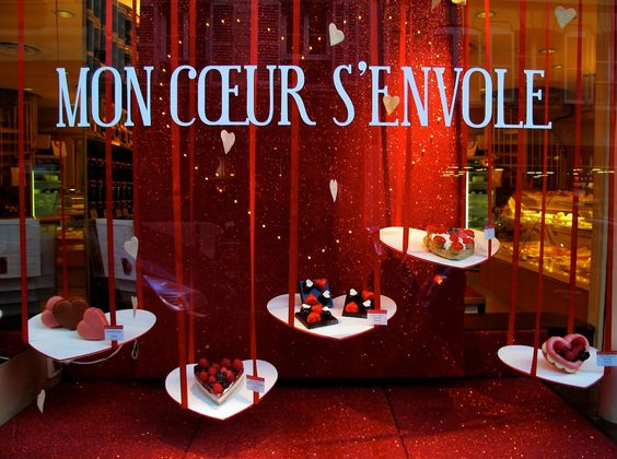 valentines and paris on pinterest On decoration vitrine saint valentin