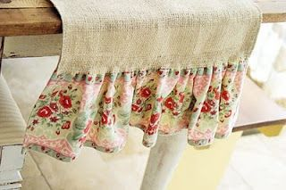 Cute frill on the end of a table runner