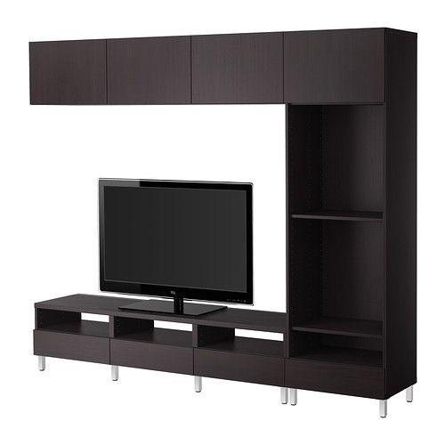 ikea best tv m bel kombination vara schwarzbraun m bel aktuelle planung pinterest. Black Bedroom Furniture Sets. Home Design Ideas
