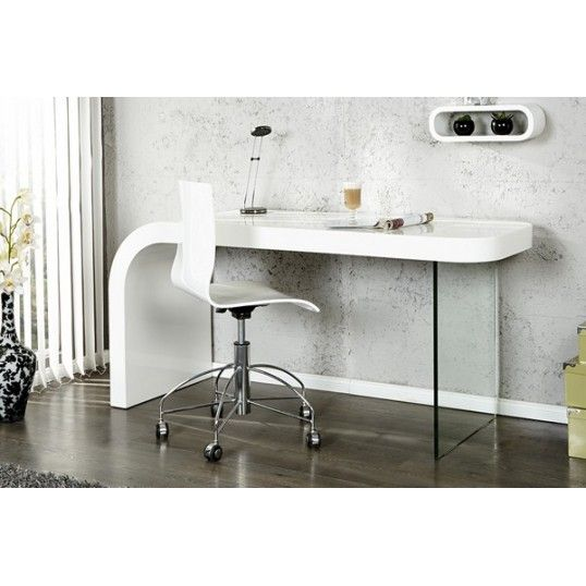 Great OPTIC   Design Desk White High Gloss Glass Home Office Table | Desk  Research | Pinterest | Office Table, High Gloss And Desks