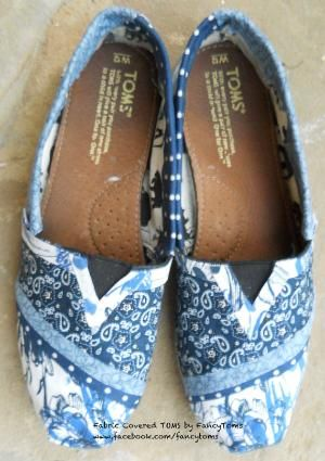 FANCY TOMS! Custom Toms Shoes Fabric covering to rejuvenate your by FancyToms