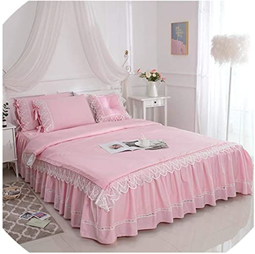 luxury ruffle lace duvet cover bed