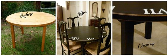 Clock table - before and after