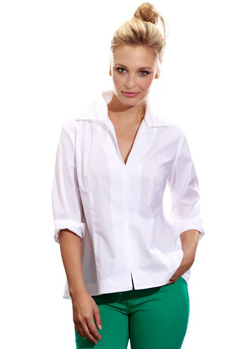 """Swing Shirt"" in White signature poplin.  Finley Couleur Spring 2012.  Available at your favorite Finley Retailer 2/28"