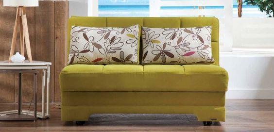 Sunset Furniture Twist Optimum Green Loveseat
