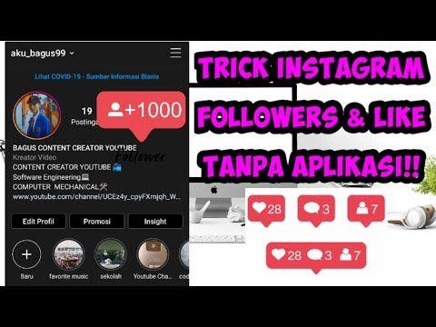 Cara Menambahkan Followers Instagram 2020 Cara Menambah Follower Instagram Tanpa Aplikasi Youtube Instagram Aplikasi Youtube