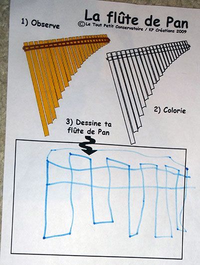 Dessin coloriage de la flute de pan dessins - Dessin de flute ...