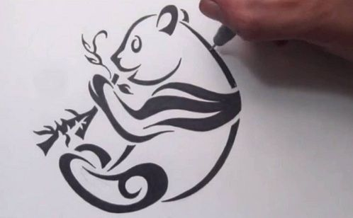 9 Best And Stylish Panda Tattoos With Images Tribal Tattoos Panda Tattoo Tribal Drawings
