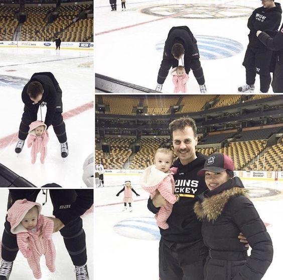 Wives and Girlfriends of NHL players: Naomi, Elina & David Krecji