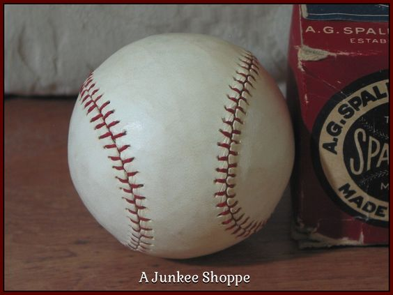 SPALDING 1915 Professional Baseball Horse Hide Number 3RC Rubber Center Junk 983  http://ajunkeeshoppe.blogspot.com/