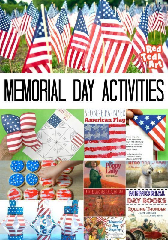 2021 Patriotic Memorial Day Activities For Kids Red Ted Art Make Crafting With Kids Easy Fun Memorial Day Activities Patriotic Activities Memorial Day