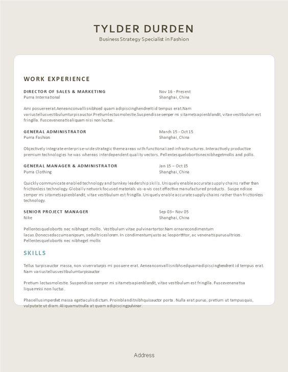 Creative Resume Fashionista - Creative Resume Fashion Industry ...