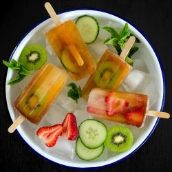 Pimm's Cup Popsicles - a classic British summer (or anytime) garden party drink transformed into a deliciously boozy, very adult treat!