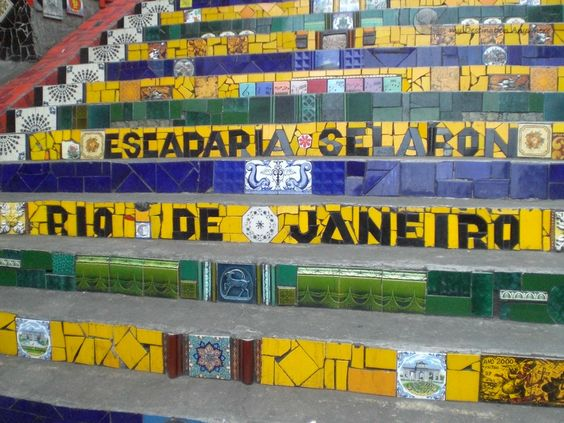 Escadaria Selarón e Arcos da Lapa no Rio de Janeiro
