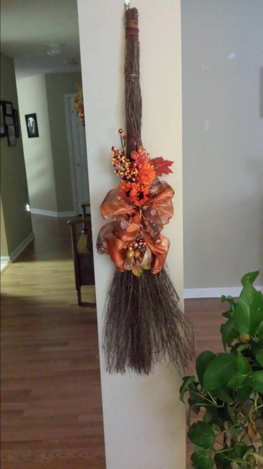 decorative cinnamon brooms by IntertwinedDesignsc on Etsy, $25.00