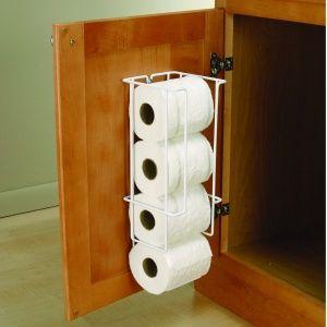 toilet paper storage ideas cabinet door behind bathroom pinterest