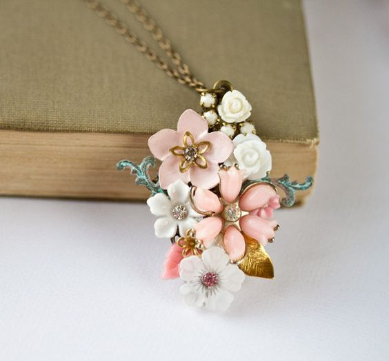 old parts made into necklace