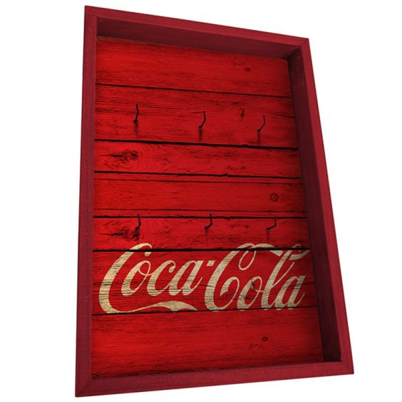 PORTA-CHAVES – COCA-COLA – WOOD STYLE