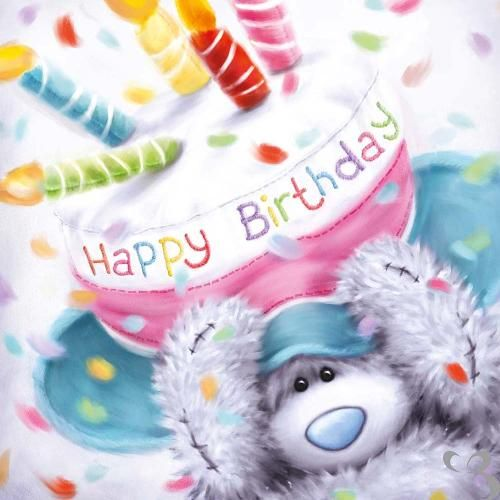 Tatty Teddy with Cake Hat Birthday Me to You Bear Card (A77QS087 ...