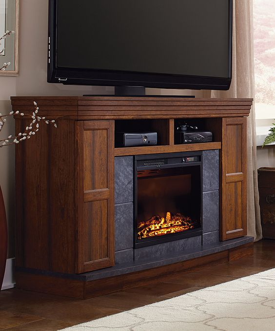Look at this Carson Electric Fireplace Media Console on #zulily today!