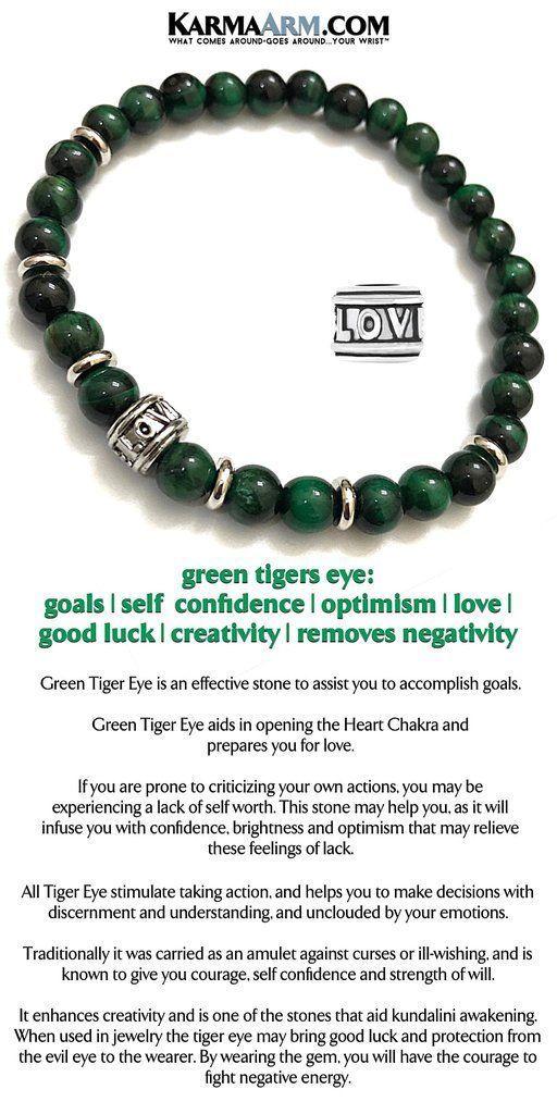 Boho Stretch Bracelets Goals: Green Tigers Eye CZ Black Diamond Pave Bar Beaded Reiki Yoga Chakra Bracelet Meditation Jewelry