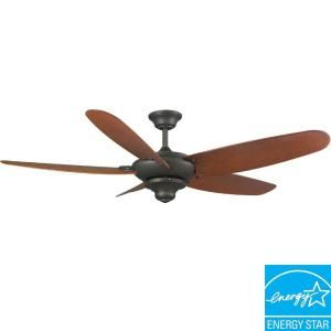Hampton Bay Altura 60 In Outdoor Oil Rubbed Bronze Energy Star Ceiling Fan 52356 At The Home
