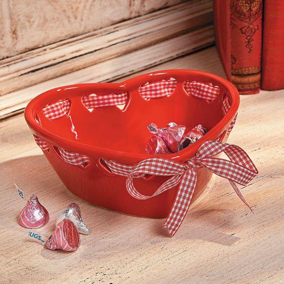 Valentine Heart-Shaped Bowl - OrientalTrading.com