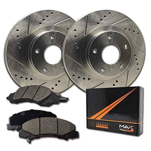 Front Brake Rotors and Metallic Pads For 2001 2002 2003 2004 2005 BMW 325xi E46