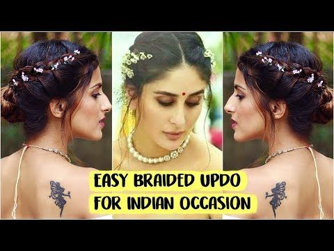 5 Min Easy Bun Hairstyle For Wedding Party Sangeet Kareena Kapoor Quick Indian Hairstyles Wedding Bun Hairstyles Bun Hairstyles Indian Bun Hairstyles