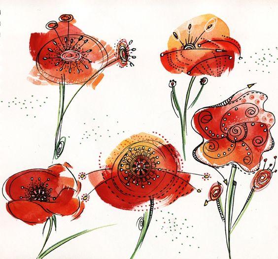 Jardin de coquelicots art textile pinterest - Catalogue de fleurs gratuit ...