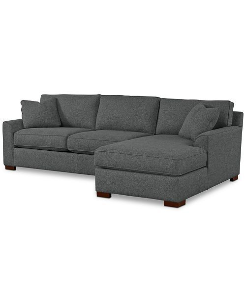 Carena 2 Pc Fabric Chaise Sectional Sofa Custom Colors Created For Macy S Custom Sofa Sectional Sofa With Chaise Sectional Sofa