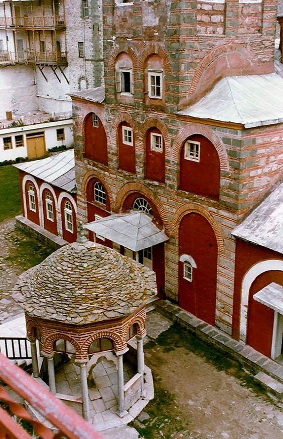 Virw of Philotheou Monastery, Mount Athos, Greece