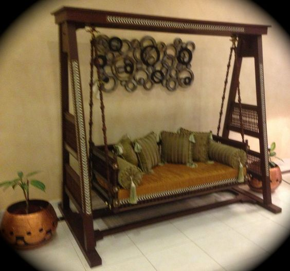 Stunning Indoor Indian Swing Quot Jhoola Quot Wooden Carved And