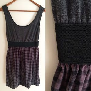 I just discovered this while shopping on Poshmark: Grey and Purple Plaid Dress . Check it out!  Size: M