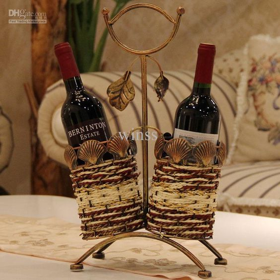 Wholesale arts and crafts buy modern brief tieyi basket for Arts and crafts wine rack