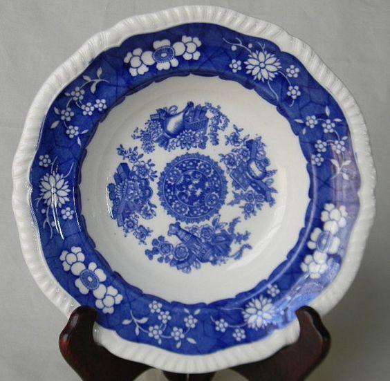 Copeland Spode Trophies Cobalt Blue English by EnglishTransferware, $24.99