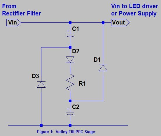 Valley Fill Passive Power Factor Correction Method Power Electronic Schematics Correction