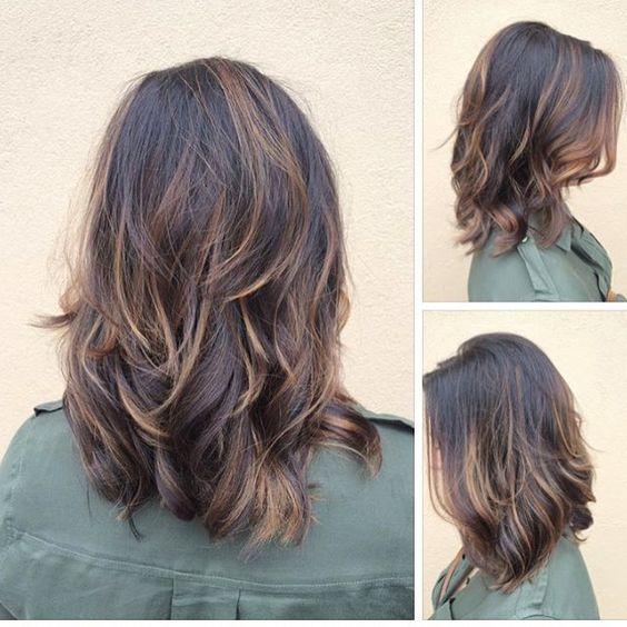 Wavy Medium Length Long Layers Haircut 5