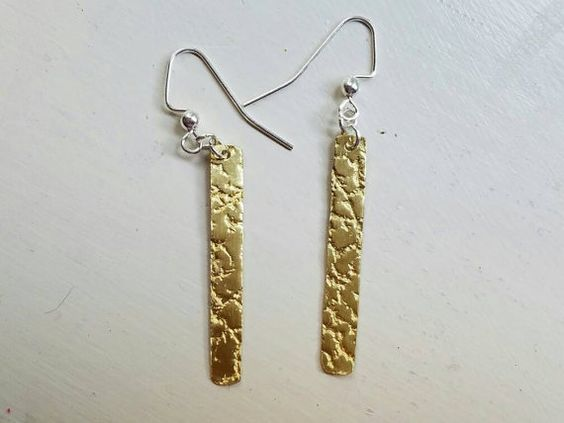 Check out this item in my Etsy shop https://www.etsy.com/listing/456593422/textured-brass-rectangular-earrings