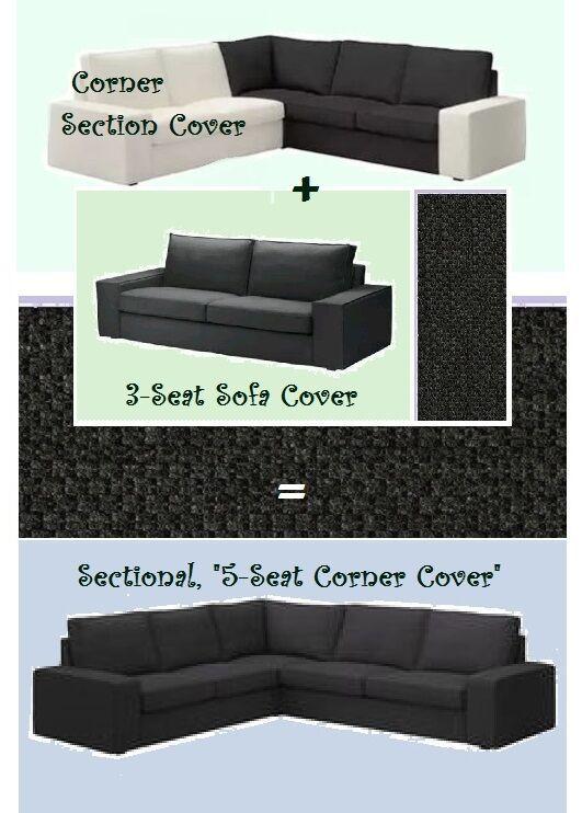Ikea Kiviksectional5 Seat3 Seat Sofa Corner Section Cover Dark Gray Dansbo Nw Grey Sofas Greysofas In 2020 Ikea Sofa Ikea Klippan Sofa Ikea Sofa Bed