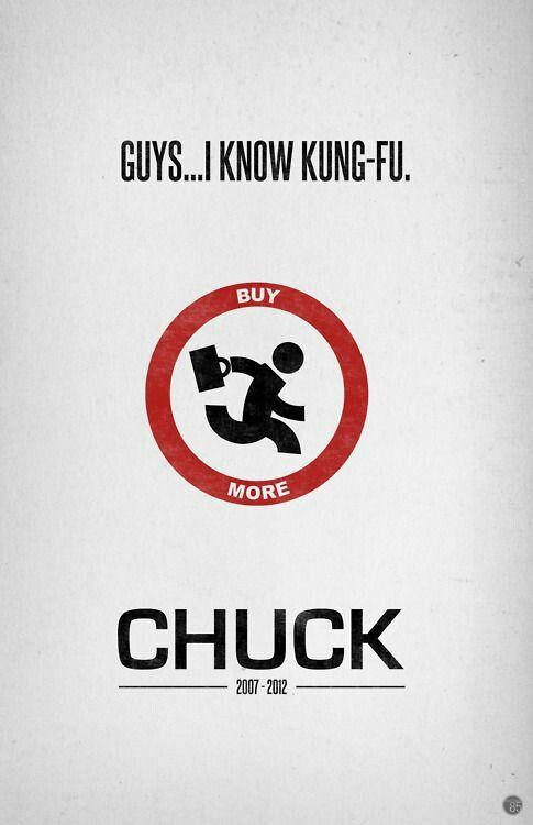 Chuck Minimalist serie poster tv show