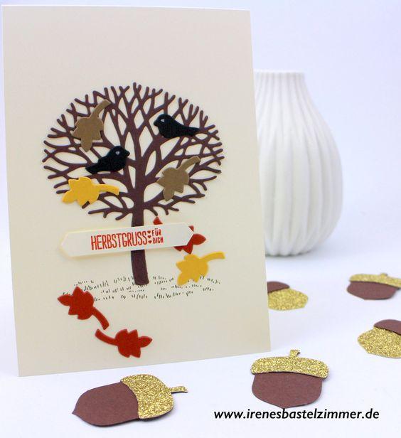 Wald der Worte; Herbstkarte www.irenesbastelzimmer.de