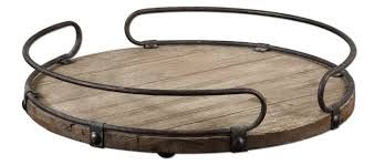 Image result for wooden tray with metal handles