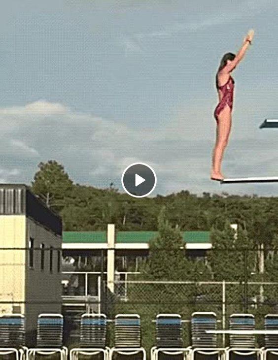 Impressionante o salto dela