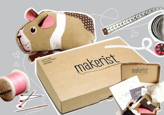 Komplett-Box Meerschweinchen-Kuscheltier von makerist shop auf DaWanda.com