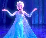 "Elsa ""Let it go... let it go... can't hold it back anymore...."" Frozen gif Herald of Arendelle"