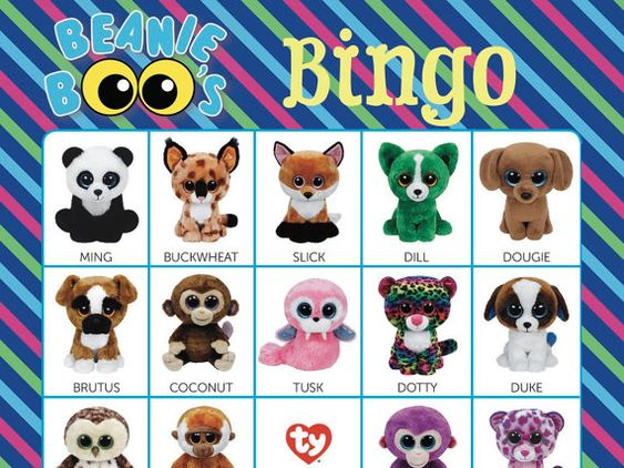 Beanie Boos Bingo Cards  14 Unique Cards with EXTRA by Bee3Shop
